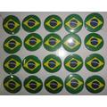 Botons Bandeira Do Brasil - 20 Unidades 4,5cm - Buttons/pins