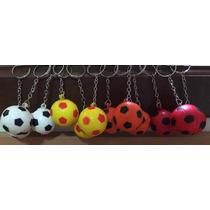 Kit 12 Chaveiros Mini Bola Futebal
