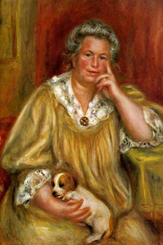 Esposa De Renoir Cachorro 1910 Pintor Renoir Tela Repro