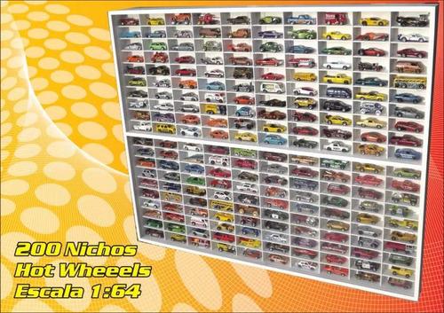 Estante (( 200 Lugares )) Hot Wheels - Miniaturas Coleção