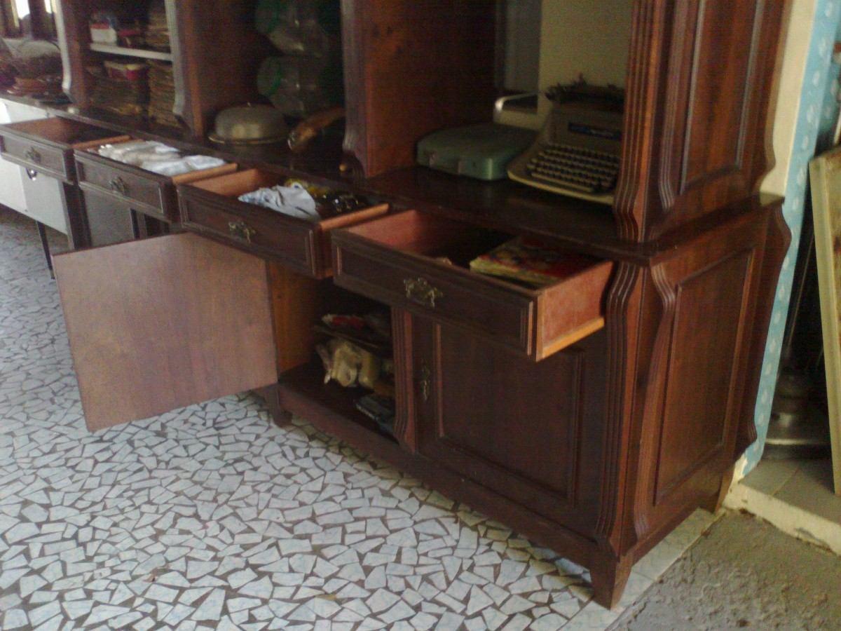 Estante Buffet Aparador Antigo / Madeira Imbuia Desmontável R$ 1  #64402C 1200x900