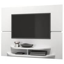 Painel Tv Sala Branco Brilho Dj Móveis