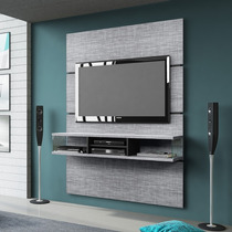 Painel Para Tv Com Bancada Pegasus Belaflex Cinza Alpino /