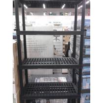Estante Preta Plástica 5 Prateleiras Desmontável - Import