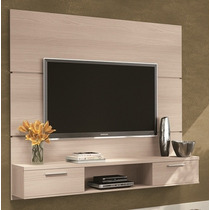 Painel Suspenso Flat Plus Tv Led Plasma Sala Cor Naturale