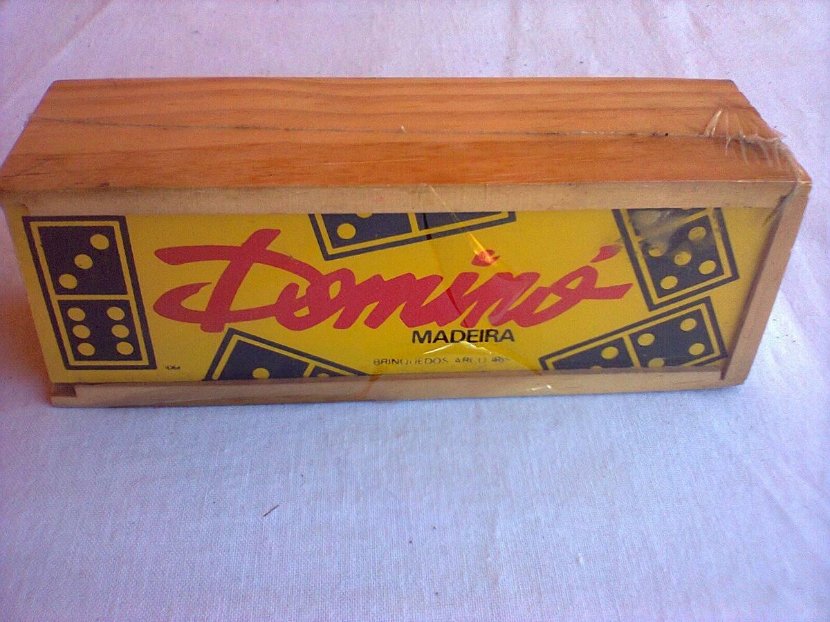 Estojo De Madeira De Domino R$ 120 00 no MercadoLivre #A1692A 1200x900