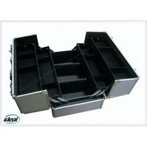Maleta De Alumínio Com Estojo Retrátil + Divisórias Móveis