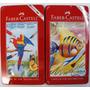 Lápis Cor Faber Castell 12 Cores Aquarelavel Estojo De Lata