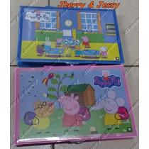 Estojo Kit Material Escolar 86 Peças Peppa Pig Completo