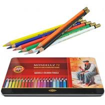 Estojo Lápis De Cor Aquarelável Mondeluz 72 Cores Koh-i-noor