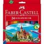 Lápis De Cor Faber Castell Com 24 Unidades + Apontador