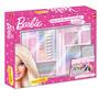 Super Maleta Barbie 70 Peças Kit Escolar Pintura - Tris