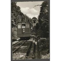 Postal - Alemanha Heidelberg - Trem - Circulado P/ Usa 1955