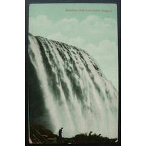 Postal - Niagara Falls Canadá Escrito, Antigo