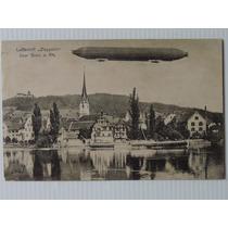 Alemanha Postal Zeppelin 1924 Circulado Suíça- Rio