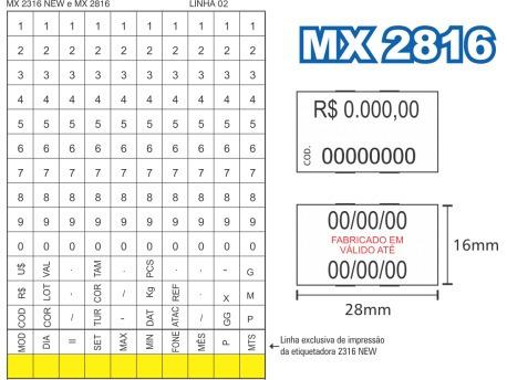 Etiquetadora Manual Fixxar - Mtx 2816
