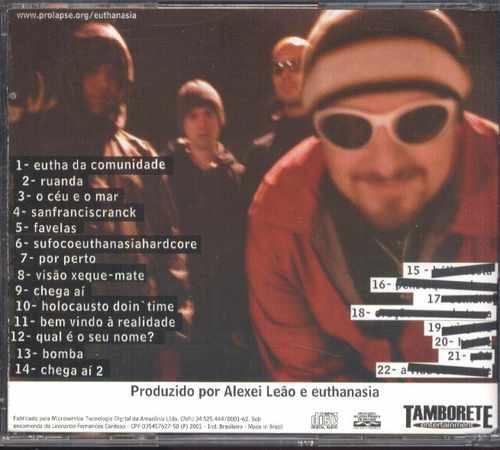Euthanasia Cd Estileira Core Music Tarja Preta Usado 2001