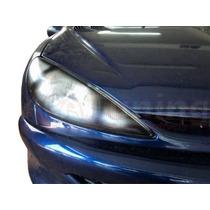 Kit Aplique Farol Mascara Negra Vinil Peugeot 206
