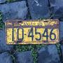 Placa Amarela Antiga Dianteira Iq-4546 Caxias Do Sul - Rs