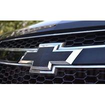 Par De Emblema Fibra Carbono Cruze Sedan 09/14 Frete Gratis