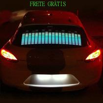 Adesivo Equalizador Led Car Music 90x10 Cm Frete Grátis