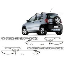 Kit Faixa Adesivo Lateral Mod4 Crossfox Com Logo Raposa