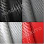 Adesivo Fibra De Carbono Moldável Textura 3d - 1metro X 30cm