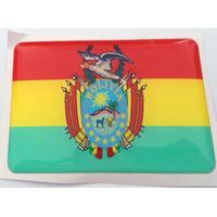 Bandeiras Adesivas Resinadas País Bolivia - Mmf Auto Parts