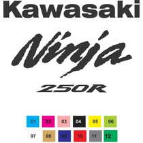 Adesivo Moto Kawasaki Ninja 250r Rabeta Carenagem Tanque