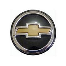 _calotinha Centro Da Roda 51mm Gm Pr C/botao Dourado (4 Pcs)