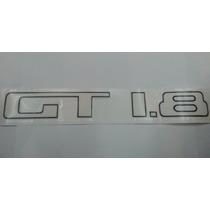 Emblema Adesivo Gt 1.8 Preto Gol Quadrado E Bola Volkswagen