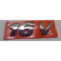 Emblema 16v Pequeno Inclinado Para Gti- Gol Saveiro Parati