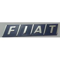 Emblema Fiat Cromado Com Fundo Azul- Uno Tipo Tempra Elba
