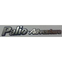 Emblema Palio Adventure Cromado Com Fundo Azul- Fiat
