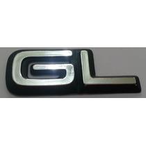 Emblema Gl Omega 94/95 Cromado Com Fundo Preto