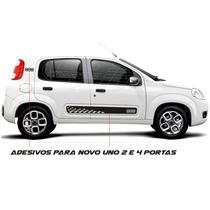 Kit Faixa Lateral Adesivos Laterais Novo Uno 2 4 P Acessório