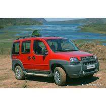 Kit 4 Molduras Estribo Fiat Doblo Adventure Original 02-09