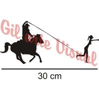 Adesivo Country Cowboy Laçando Cowgirl R$ 10,00