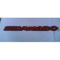 Emblema Silverado Vermelho -mmf Auto Parts