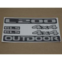 Kit Adesivos Mitsubishi L200 Gls 4x4 Outdoor Resinado Decalx