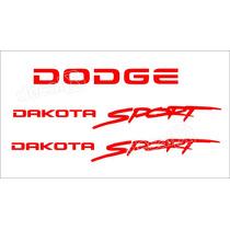 Kit Adesivos Dodge Dakota Sport Em Vermelho - Decalx