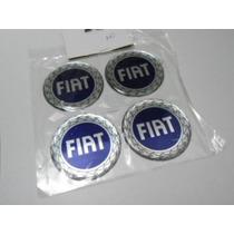 Emblema Resinado Calotas Ou Roda Fiat Coroa Dos Louros 58mm
