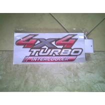 Emblema Adesivo 4x4 Turbo Intercooler Hilux 2009