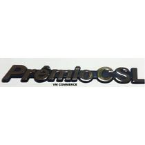 Emblema Premio Csl- Cromado Com Fundo Azul- Linha Fiat