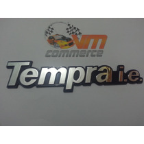 Emblema Tempra I.e. Cromado Com Fundo Azul- Fiat