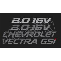 Kit Adesivos Vectra Gsi Em Prata - Decalx