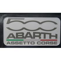 Abarth Adesivo Fiat 500 Resinado - Frete Gratis