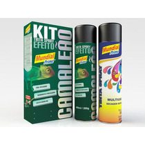 Kit Tinta Spray Camaleão (spray Primer + Spray Efeito) - 6 X