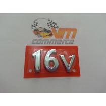 Emblema 16v Cromado Escort Ka 97/98 Ford