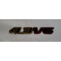 Emblema Resinado 4.3 V6 Blazer/s10 2001acima Mmf Auto Parts